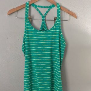 Yellow and green striped tank top!